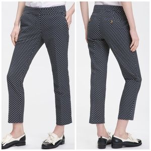 Polkadot crop pants Tory Burch Owen navy